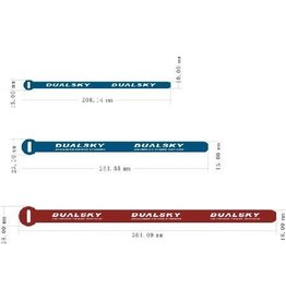 Dualsky Dualsky  Battery Straps, Small, 5 pce, L=208mm