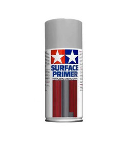 Tamiya Tamiya Surface Primer (L) Spray for Plastic & Metal (Grey) 180ml