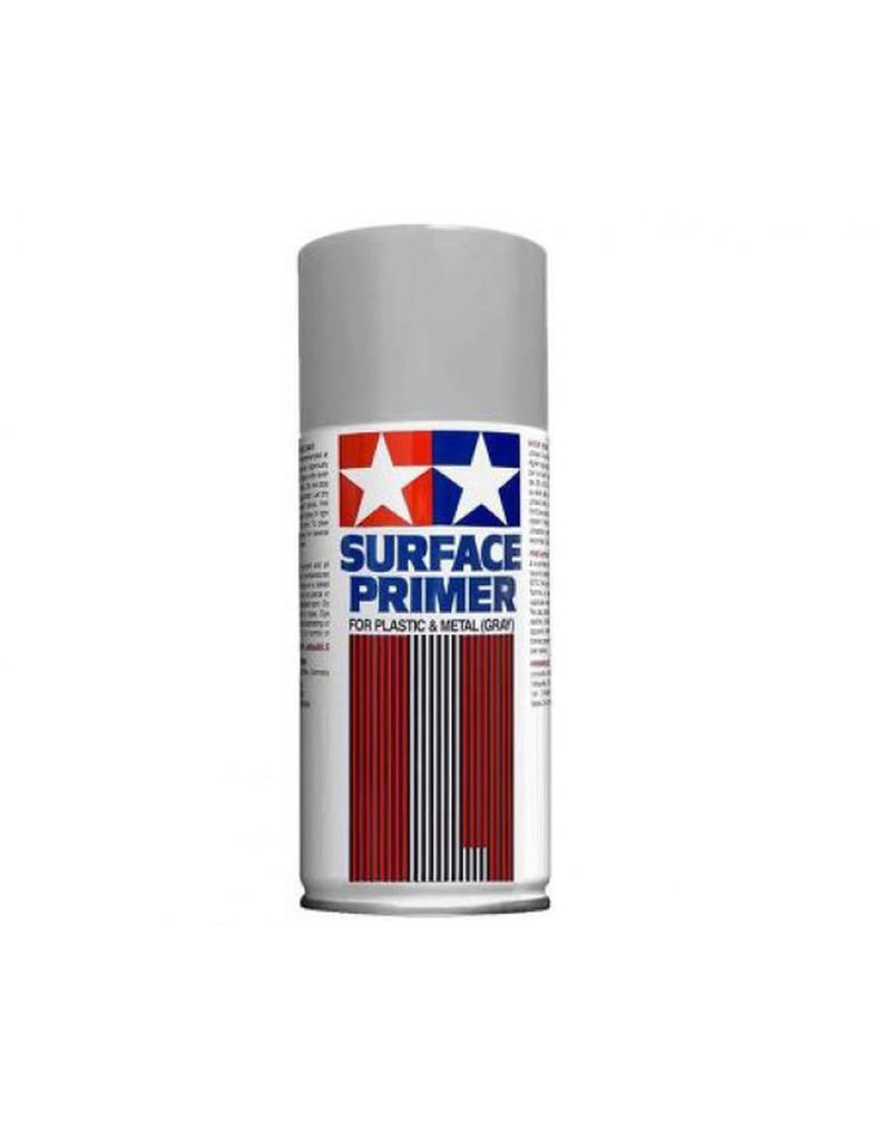 Tamiya Tamiya Surface Primer (L) Spray for Plastic & Metal (Grey) 180ml