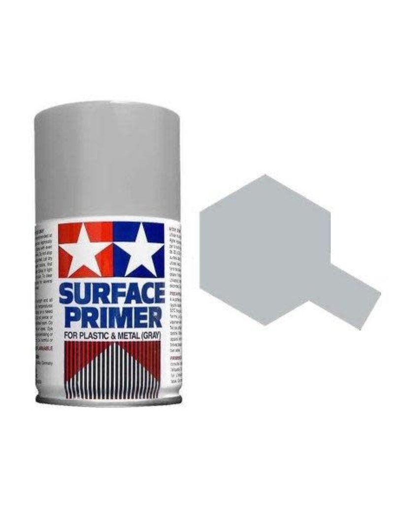 Tamiya Tamiya Surface Primer Spray for Plastic & Metal (Grey) 100ml