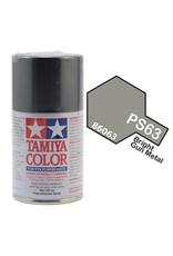 Tamiya PS-63 Bright Gunmetal Polycarbanate Spray Paint 100ml