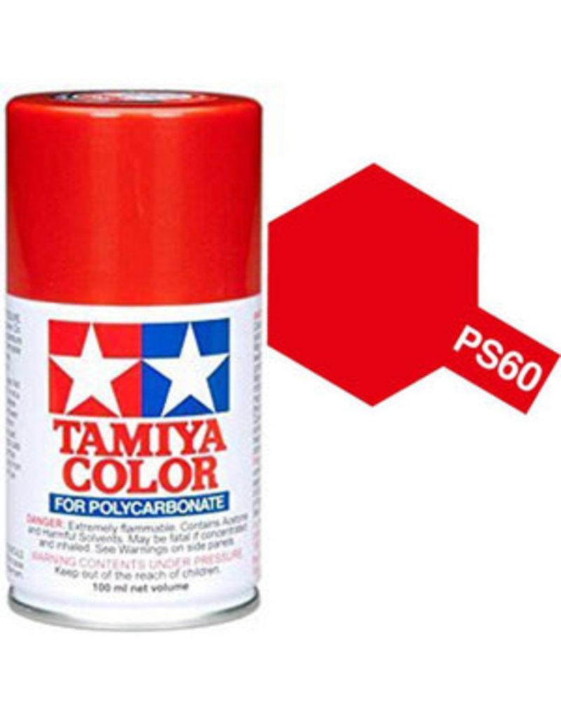 Tamiya PS-60 Bright Mica Red Polycarbanate Spray Paint 100ml