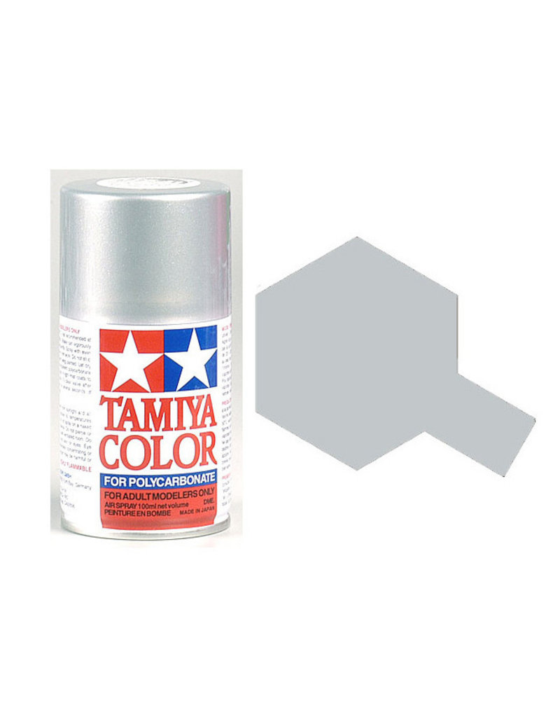 Tamiya PS-41 Bright Silver Polycarbanate Spray Paint 100ml