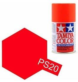 Tamiya PS-20 Fluorescent Red Polycarbanate Spray Paint 100ml