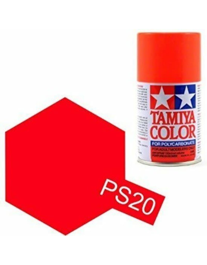 Tamiya PS-20 Fluorescent Red Polycarbanate Spray Paint 100ml