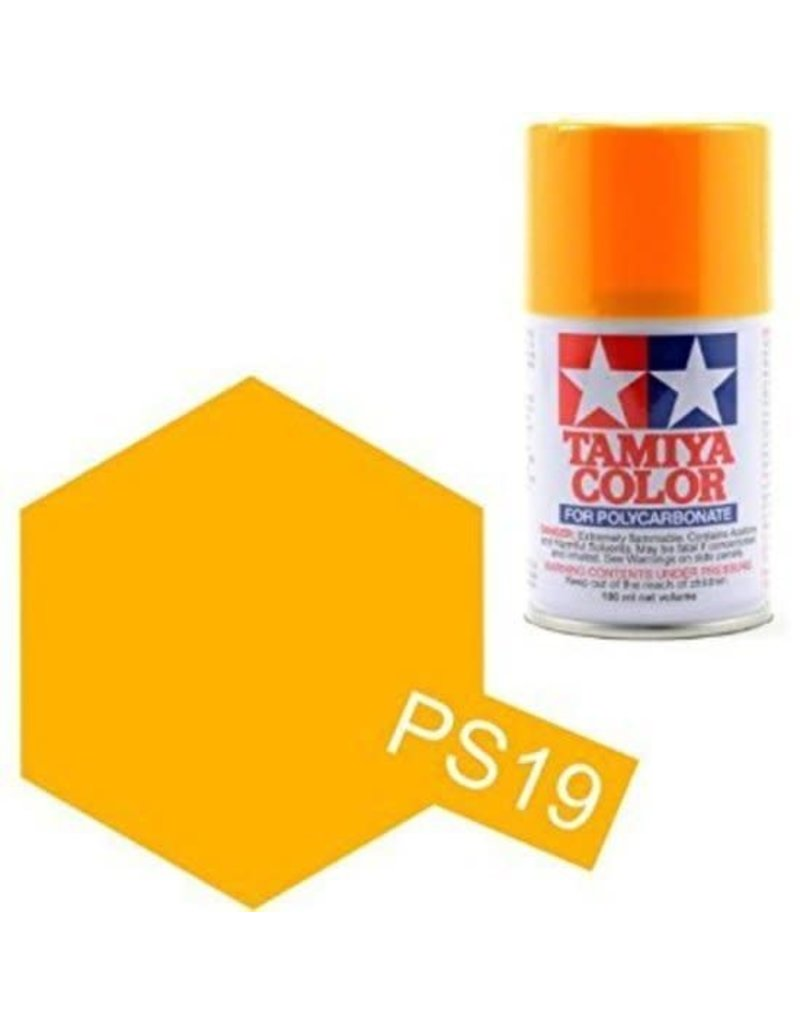 Tamiya PS-19 Camel Yellow Polycarbanate Spray Paint 100ml