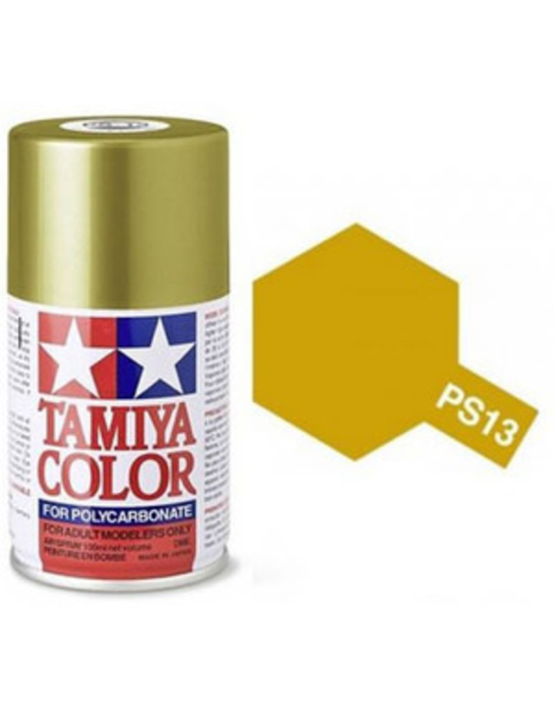 Tamiya PS-13 Gold Polycarbanate Spray Paint 100ml