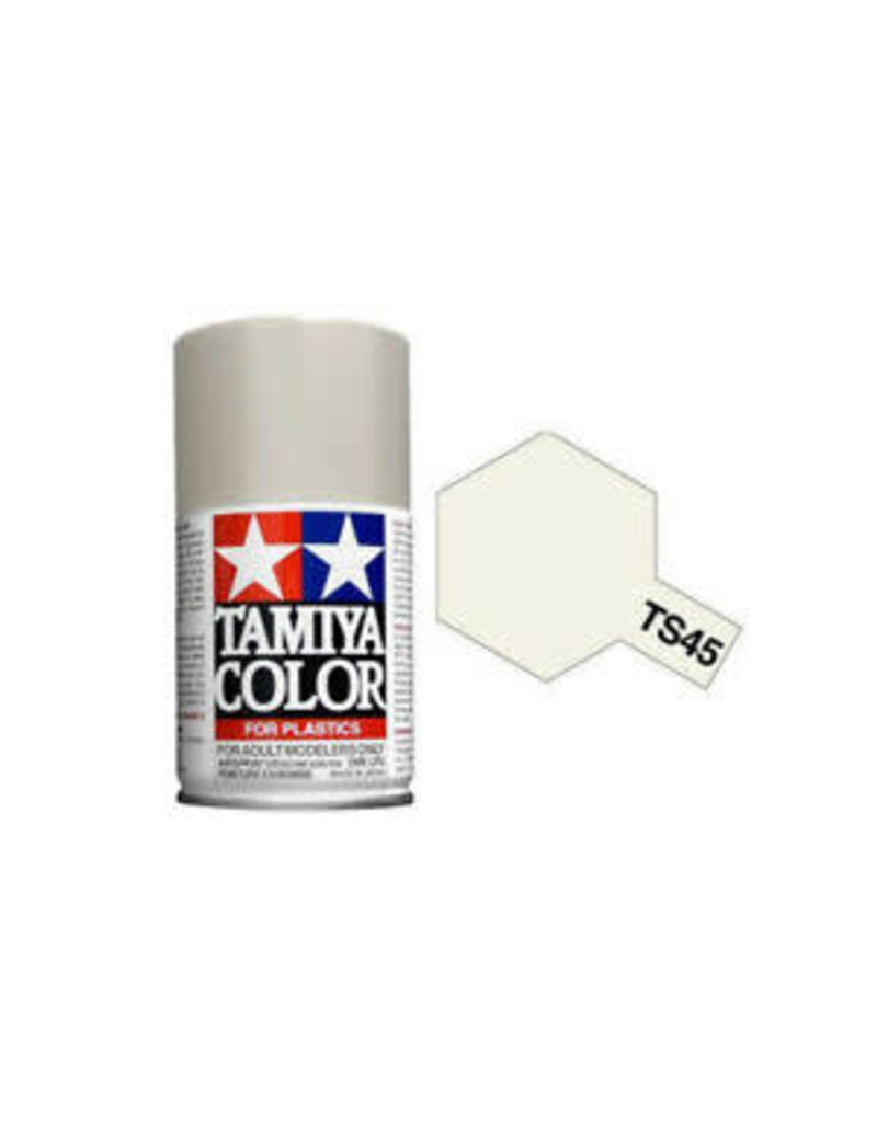 Tamiya TS-45 Pearl White Lacquer Spray Paint 100ml