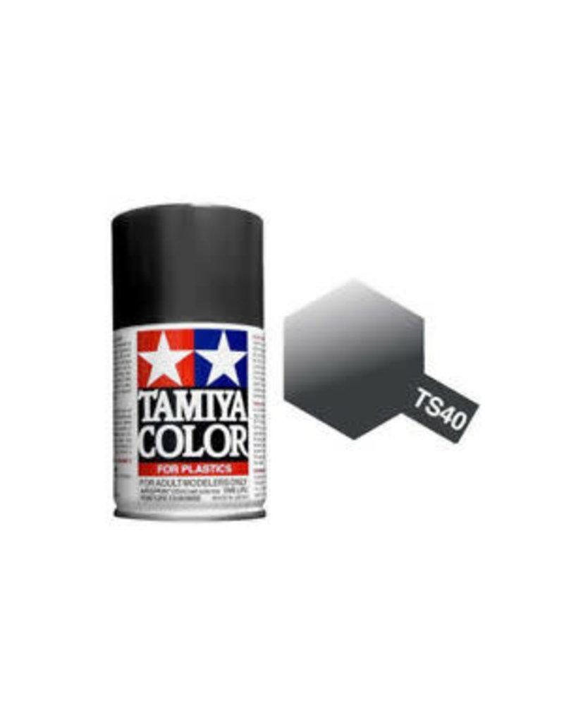 Tamiya TS-40 Metallic Black Lacquer Spray Paint 100ml