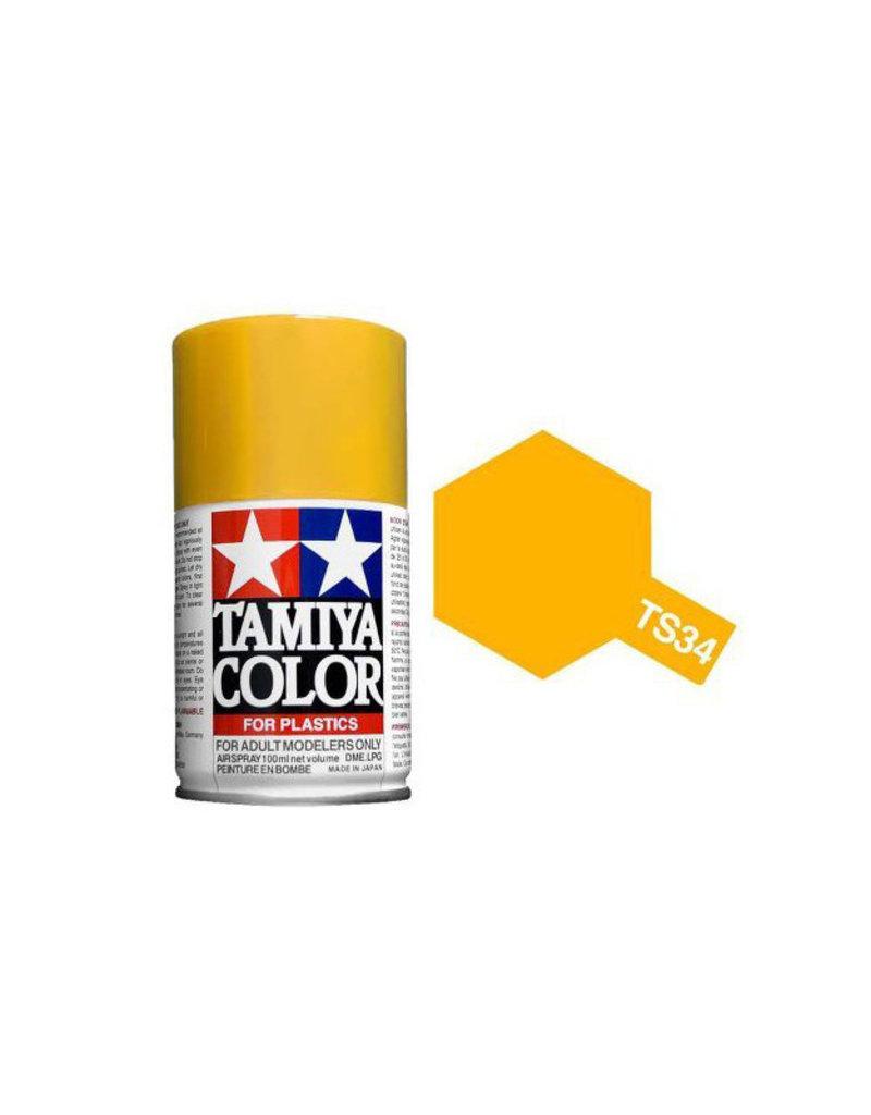 Tamiya TS-34 Camel Yellow Lacquer Spray Paint 100ml