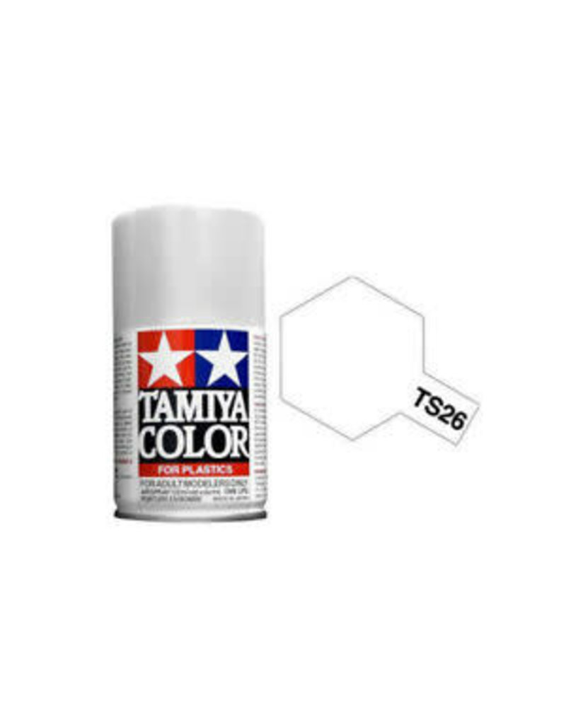 Tamiya TS-26 Pure White Lacquer Spray Paint 100ml