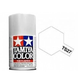 Tamiya TS-27 Matt White Lacquer Spray Paint 100ml