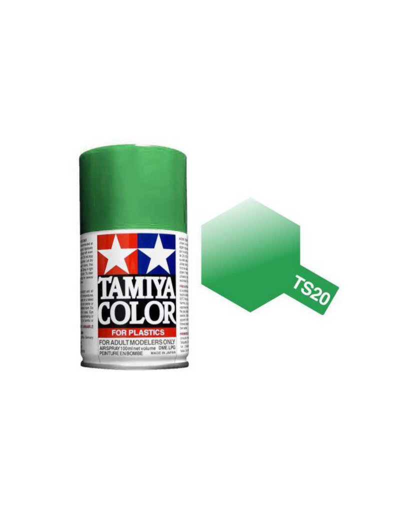 Tamiya TS-20 Metallic Green Lacquer Spray Paint 100ml