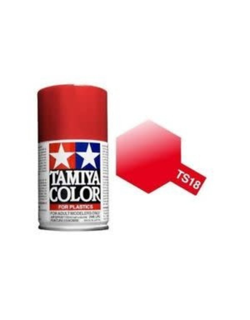 Tamiya TS-18 Metallic Red Lacquer Spray Paint 100ml