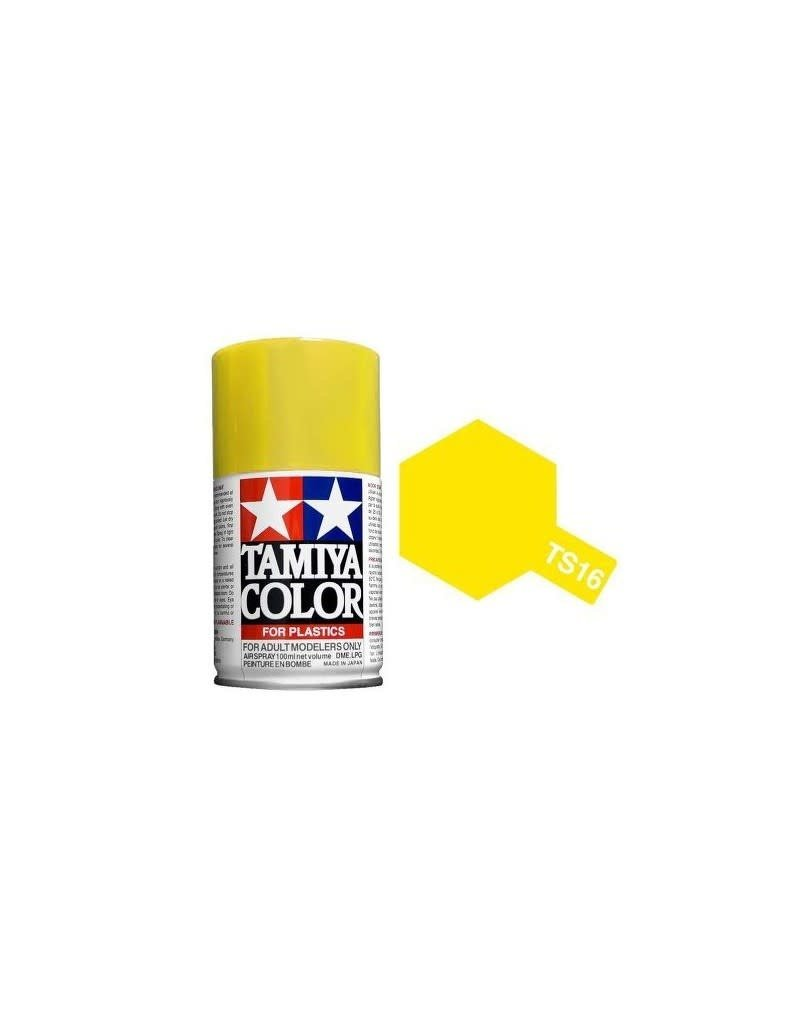Tamiya TS-16 Yellow Lacquer Spray Paint 100ml