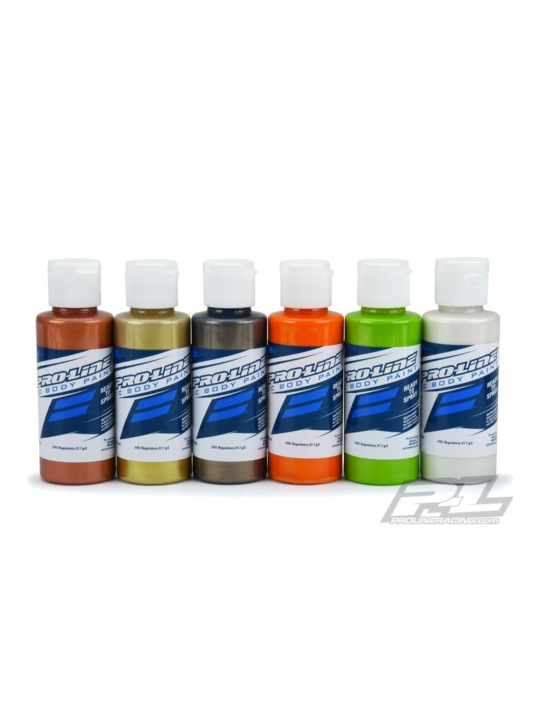 Proline PROLINE POLYCARBONATE RC BODY PAINT - METALLIC AND PEARL COLOR SET - 6 PACK