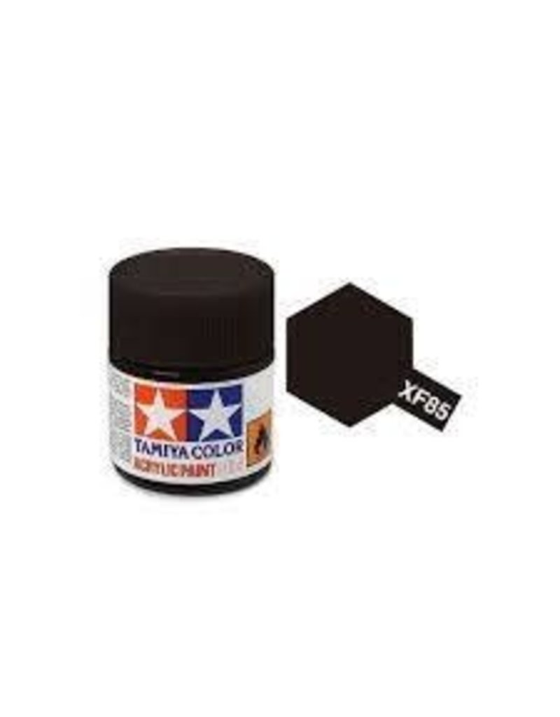 Tamiya Tamiya XF-85 Rubber Black Flat Acrylic Paint 10ml