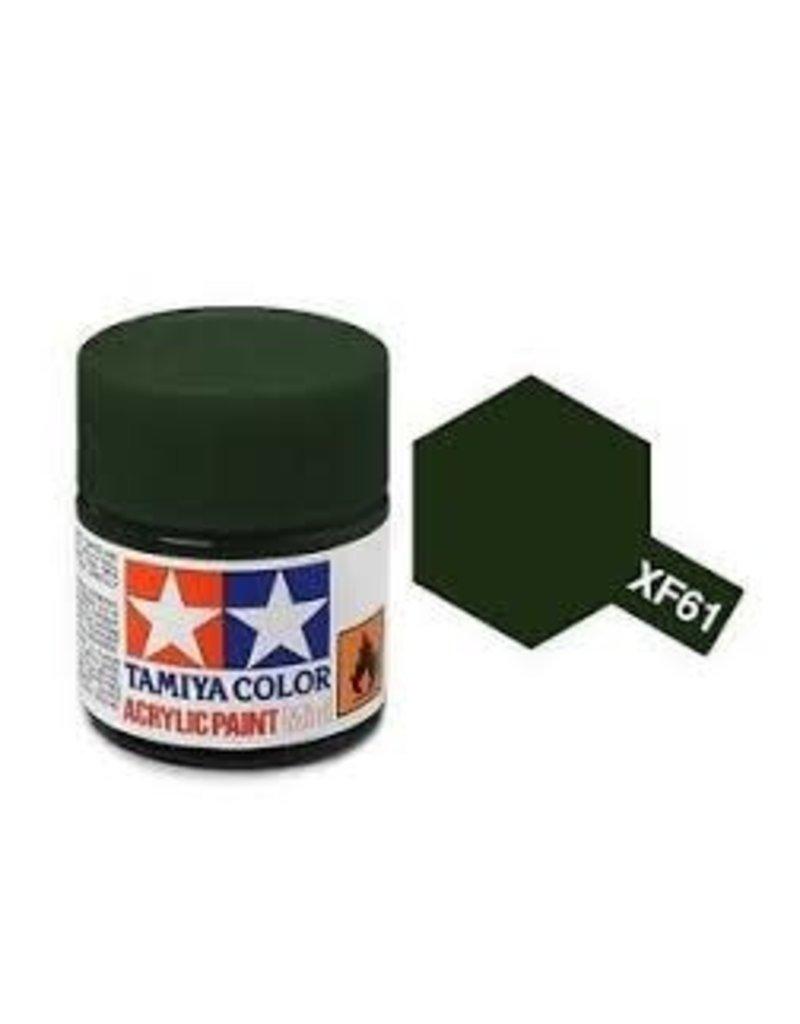 Tamiya Tamiya XF-61 Dark Green Flat Acrylic Paint 10ml