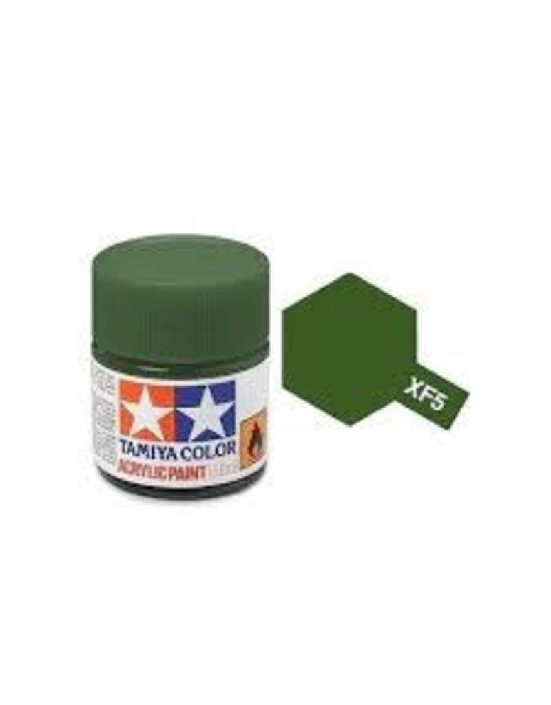 Tamiya Tamiya XF-5 Flat Green Flat Acrylic Paint 10ml