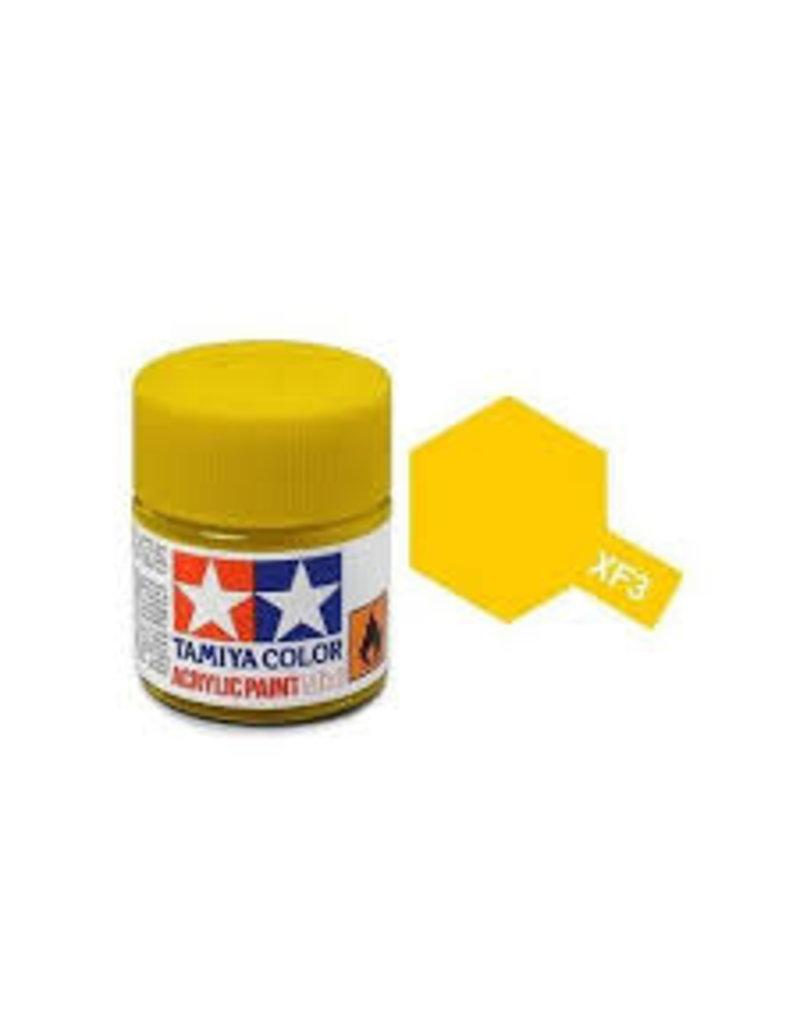 Tamiya Tamiya XF-3 Flat Yellow Flat Acrylic Paint 10ml