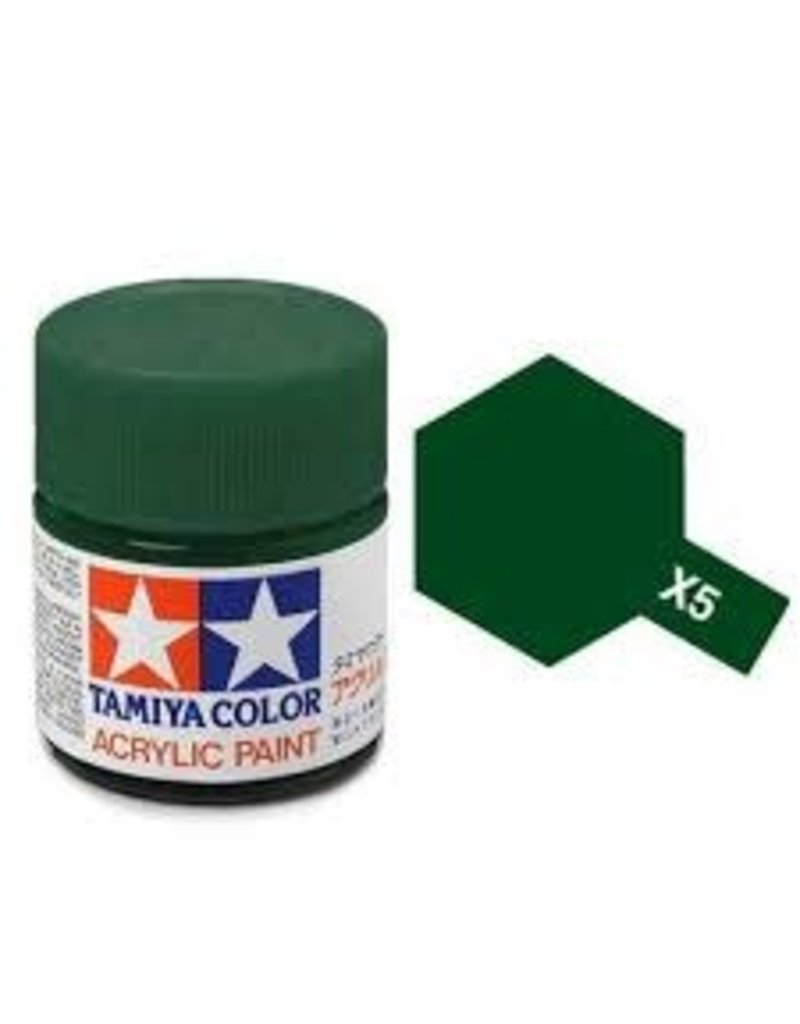 Tamiya Tamiya X-5 Green Gloss Acrylic Paint 10ml