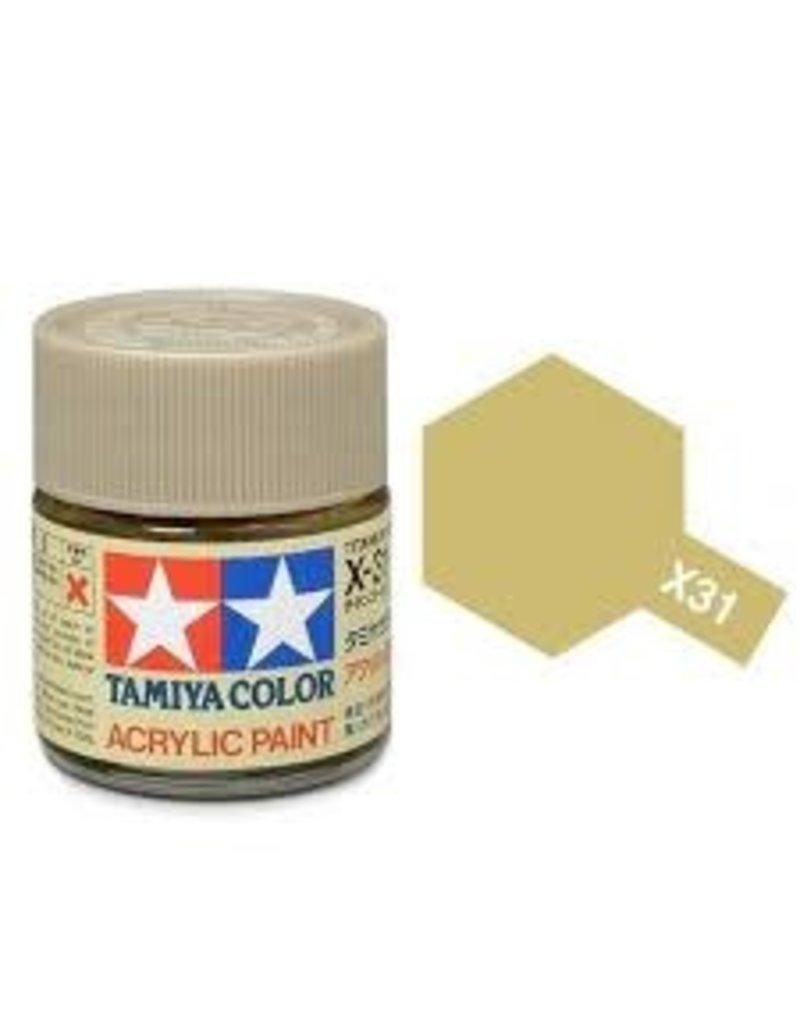 Tamiya Tamiya X-31 Titanium Gold Gloss Acrylic Paint 10ml