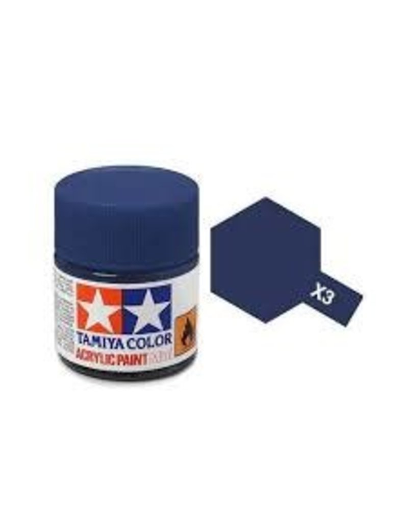 Tamiya Tamiya X-3 Royal Blue Acrylic Paint 10ml