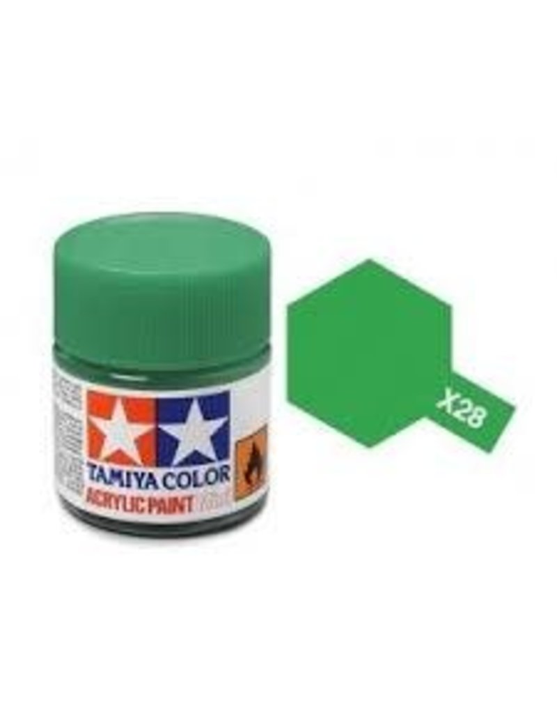 Tamiya Tamiya X-28 Park Green Gloss Acrylic Paint 10ml
