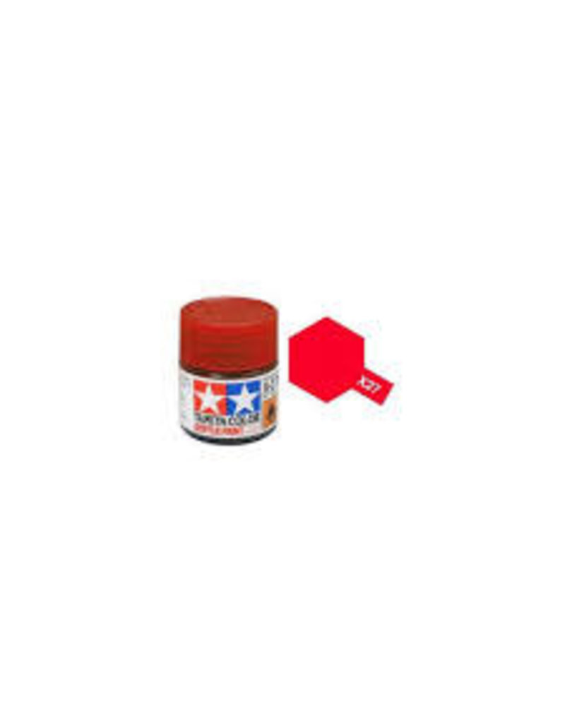 Tamiya Tamiya X-27 Clear Red Gloss Acrylic Paint 10ml