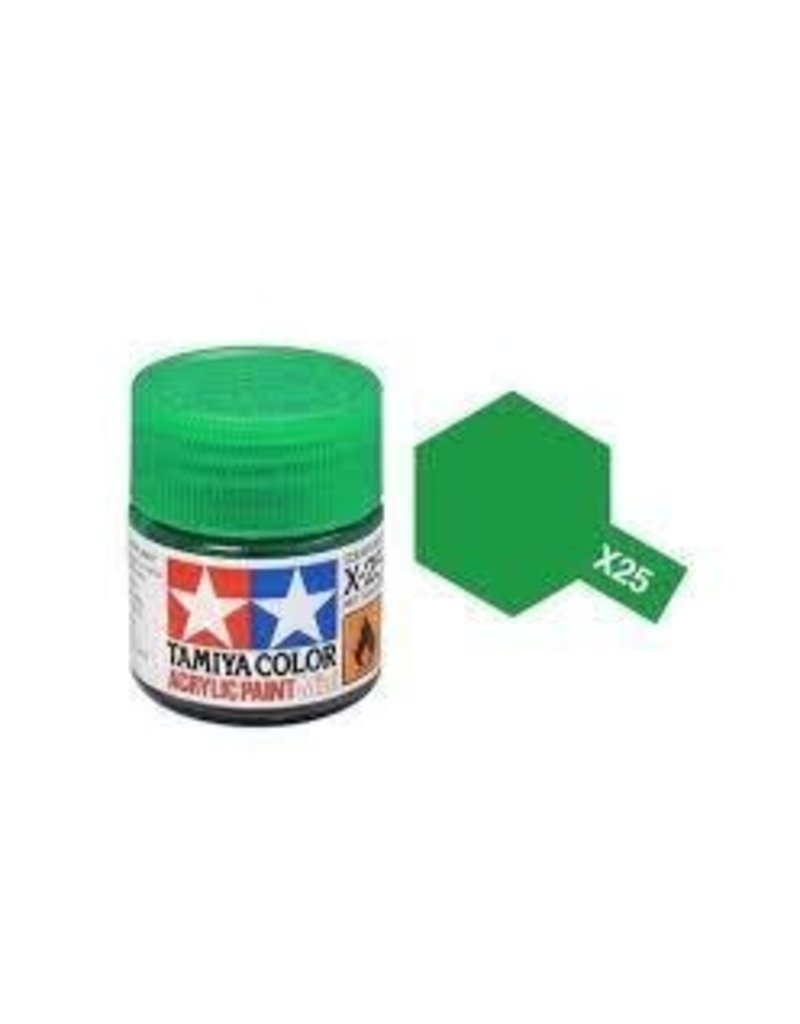 Tamiya Tamiya X-25 Clear Green Gloss Acrylic Paint 10ml