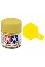 Tamiya Tamiya X-8 Lemon Yellow Gloss Acrylic Paint 10ml