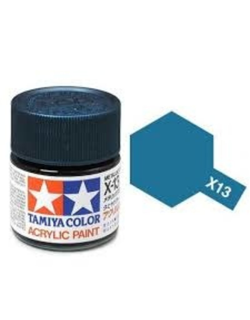 Tamiya Tamiya X-13 Metallic Blue Gloss Acrylic Paint 10ml