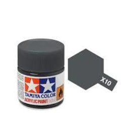 Tamiya Tamiya X-10 Gun Metal Gloss Acrylic Paint 10ml