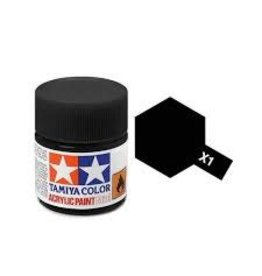 Tamiya Tamiya X-1 Black Gloss Acrylic Paint 10ml