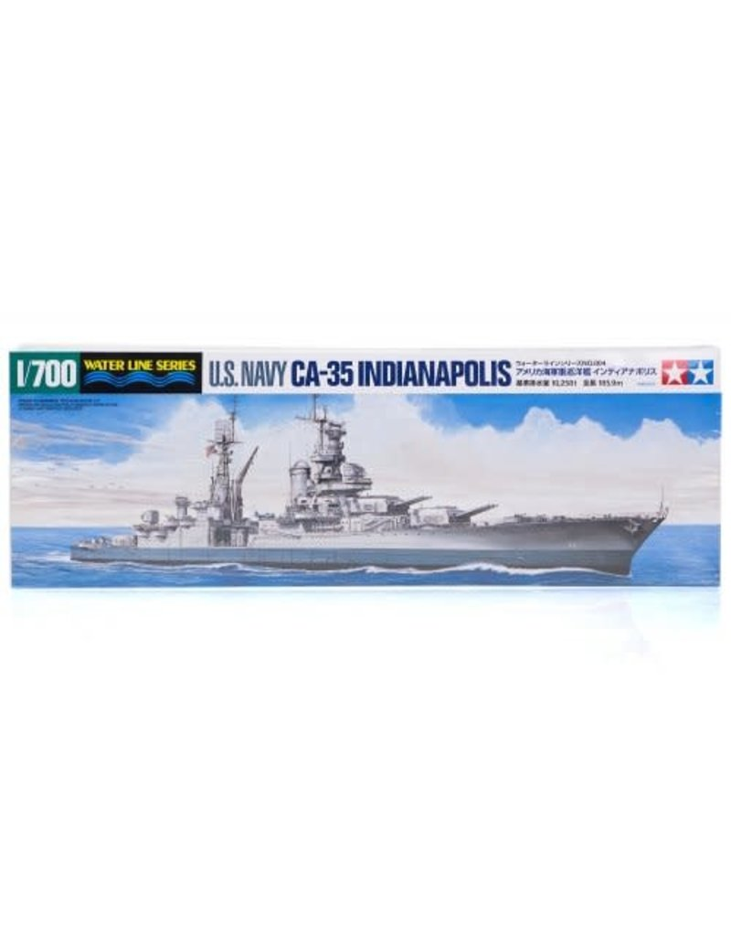 Tamiya Tamiya 1/700 U.S. Navy CA-35 Indianapolis Heavy Cruiser Plastic Model Kit