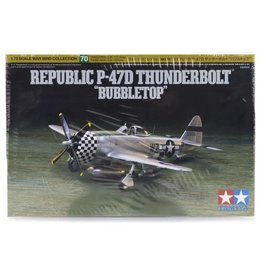 Tamiya Tamiya 1/72 Republic P-47D Bubbletop Thunderbolt Fighter Scaled Plastic Model Kit
