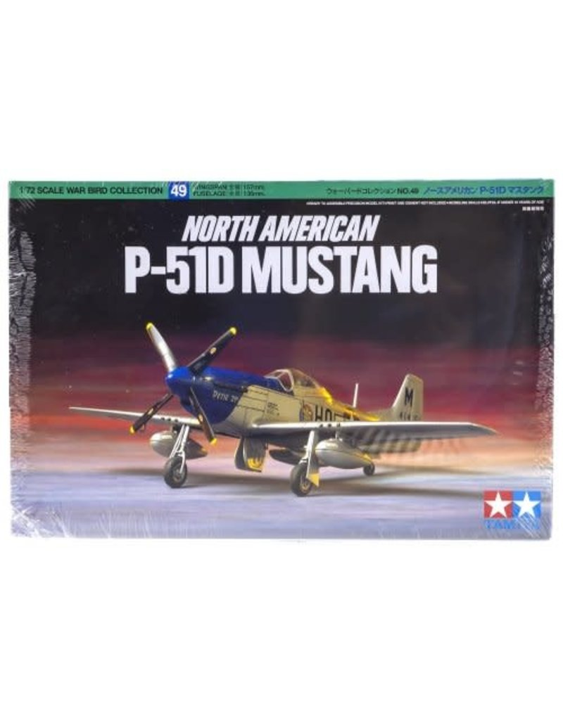 Tamiya Tamiya 1/72 North American P-51D Mustang Scaled Plastic Model Kit