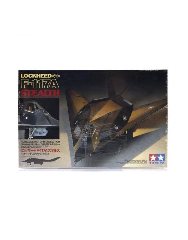 Tamiya Tamiya 1/72 Lockheed F-117A Stealth Jet Scaled Plastic Model Kit
