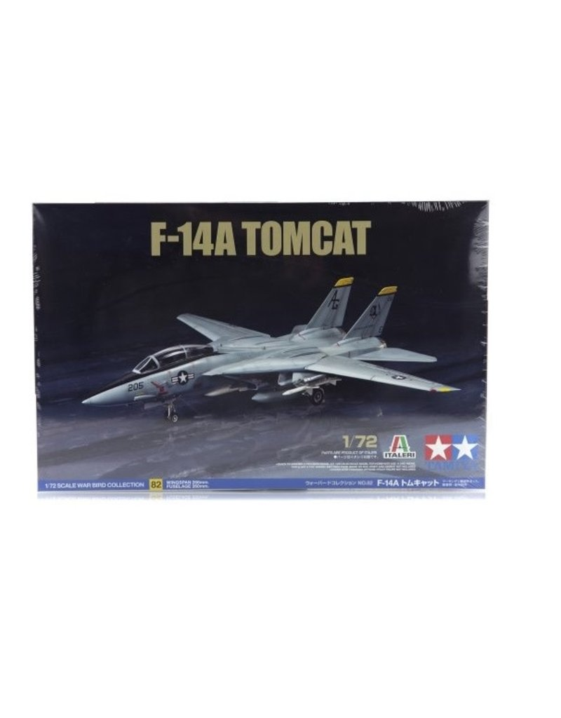 Tamiya Tamiya 1/72 F-14 Tomcat Jet Scaled Plastic Model Kit