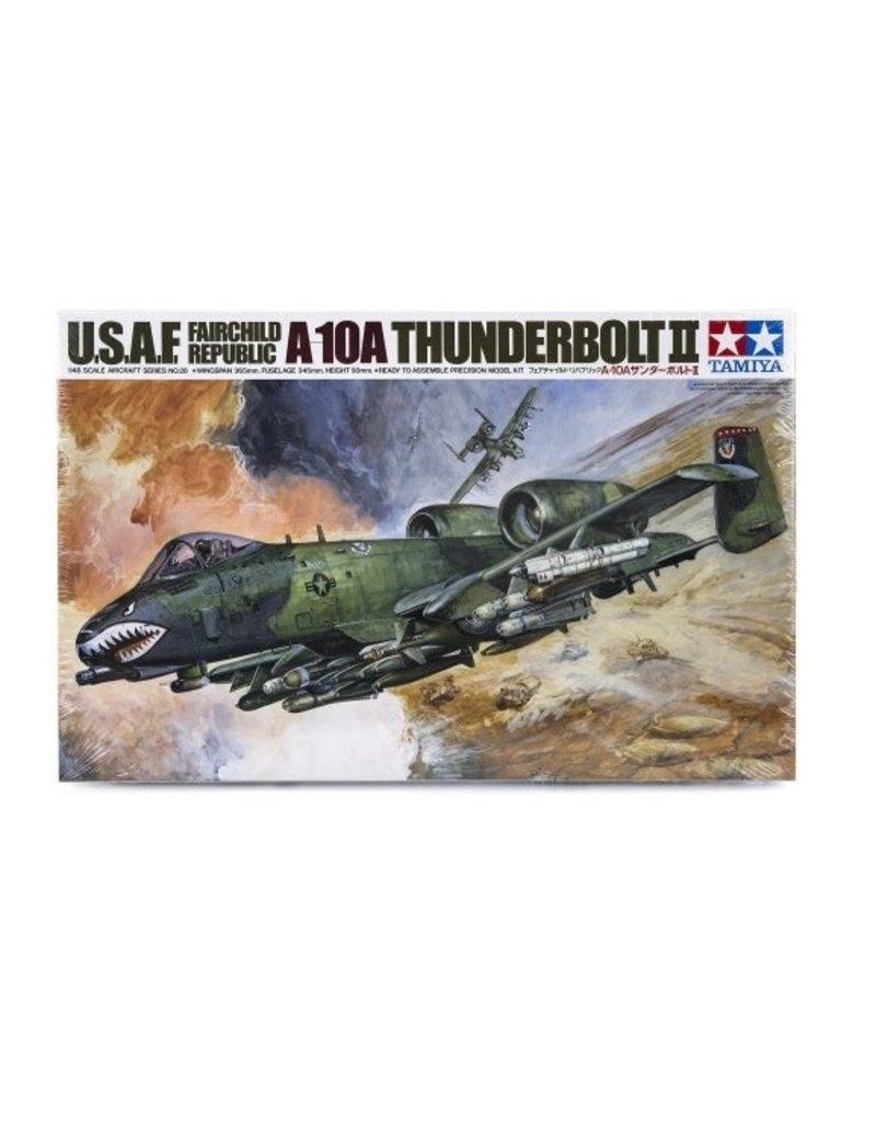 Tamiya Tamiya 1/48 U.S.A.F A-10A Thunderbolt II Jet Scaled Plastic Model Kit