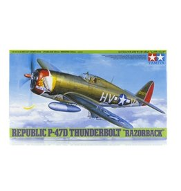 Tamiya Tamiya 1/48 Republic P-47D Thunderbolt Razorback Fighter Scaled Plastic Model Kit