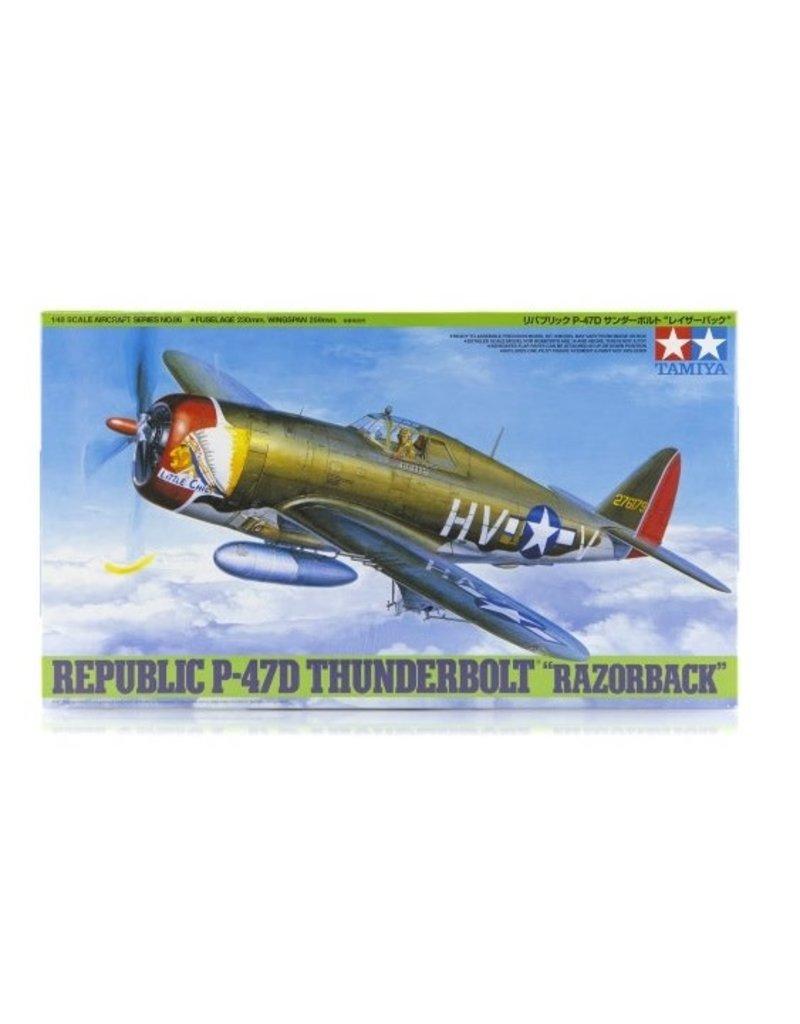 Tamiya Tamiya 1/48 Republic P-47D Thunderbolt Razorback Fighter Scaled Plastic Model Kit