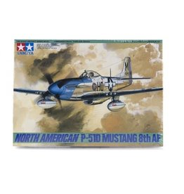 Tamiya Tamiya 1/48 North American P-51 Mustang 8th AF Fighter Scaled Plastic Model Kit