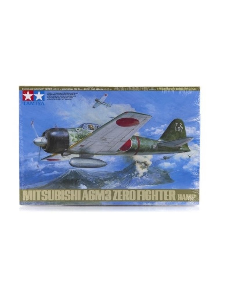 Tamiya Tamiya 1/48 Mitsubishi A6M3 Hamp Zero Fighter Scaled Plastic Model Kit