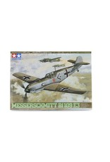 Tamiya Tamiya 1/48 Messerschmitt Bf109 E3 Trop Fighter Scaled Plastic Model Kit