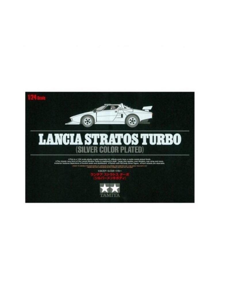 Tamiya Tamiya 1/24 Silver Plated Lancia Stratos Turbo Scaled Plastic Model Kit