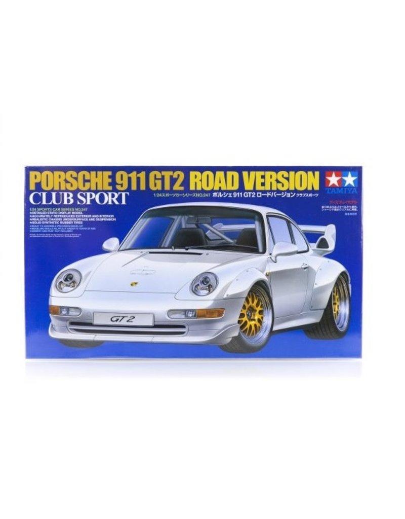 Tamiya Tamiya 1/24 Porsche 911 GT2 Road Version Club Sport Scaled Plastic Model Kit