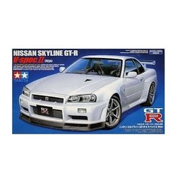 Tamiya Tamiya 1/24 Nissan Skyline R34 GT-R V-spec II Scaled Plastic Model Kit