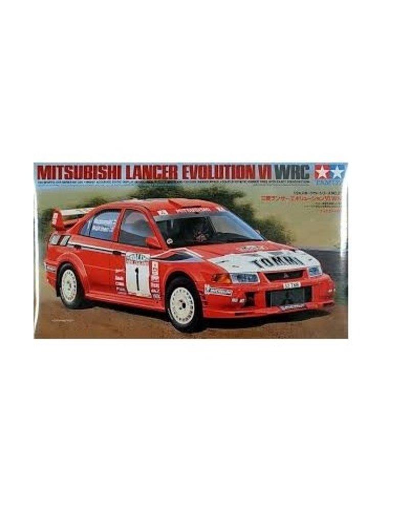 Tamiya Tamiya 1/24 Mitsubishi Lancer Evolution VI WRC Scaled Plastic Model Kit
