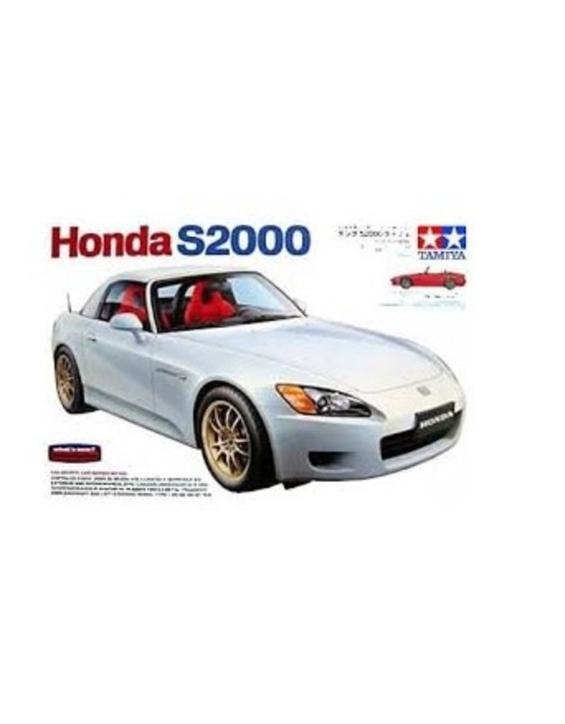 Tamiya Tamiya 1/24 Honda S2000 Hard Top Scaled Plastic Model Kit
